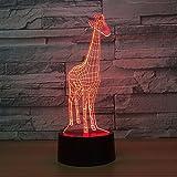 3D Giraffe Licht 7 Farbe RGBLED Kind Nachtlicht Touch LEDUSB Tischlampe Baby Schlaf Nachtlicht...