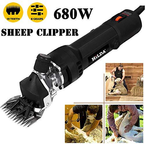 LCAZR ZWF Schafschermaschine Elektrische Schafschere Set Schermaschine Für Schafe 680W,Ziegenscherer Tierrasur,Elektrische Wollschere Schere Schafscheren/Schwarz