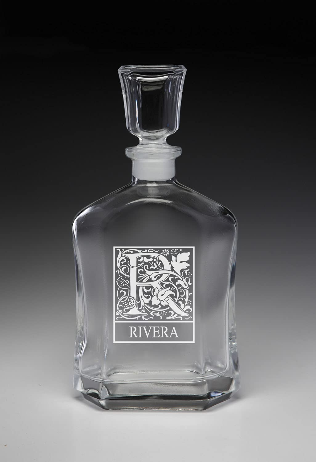 New York Mall Rivera Personalized Initial Omaha Mall Whiskey Decanter