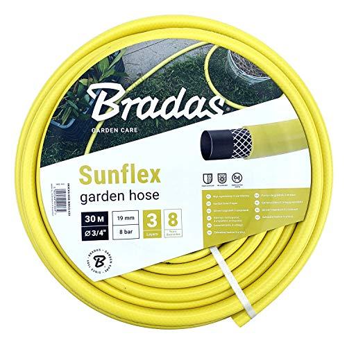 Bradas WMS3/430 Gartenschlauch 30 m, 3/4 Zoll Sunflex, Gelb, 40x40x25 cm
