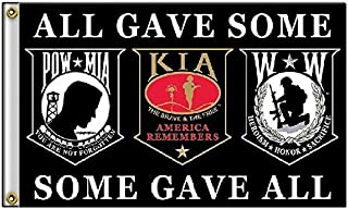 K's Novelties 3x5 Pow Mia Powmia Killed in Action Wounded Warriors All Gave Some Some Gave All Flag 3'x5'