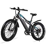 GUNAI Bicicleta de Montaña Eléctrica 1000w, Bicicleta de Nieve de 26...