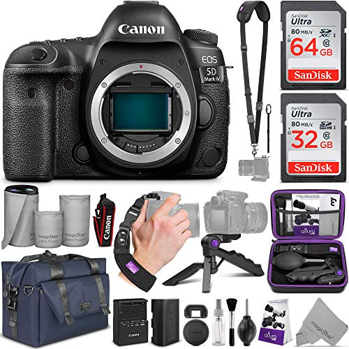 Sale!! Canon EOS 5D Mark IV Full Frame Digital SLR Camera Body with Altura Photo Complete Accessory ...