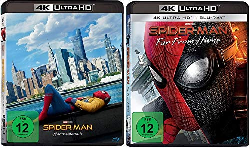 Spider-Man Homecoming + Spider-Man Far From Home [4K Ultra HD Blu-ray Set]