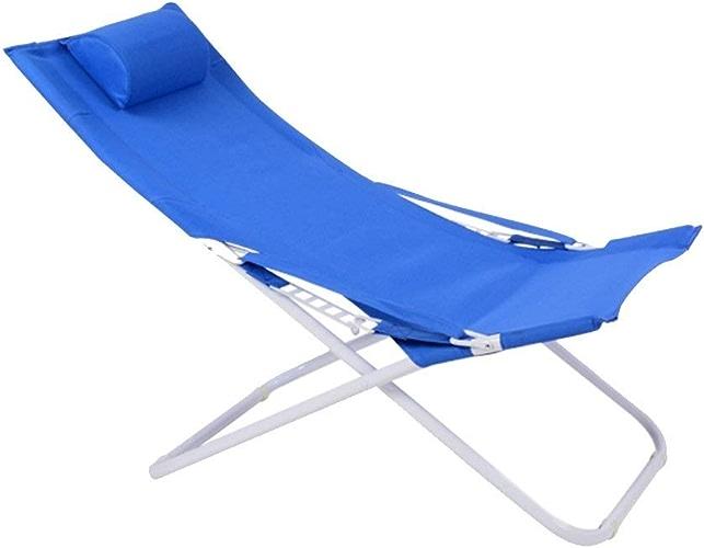 RMJAI Chaises Chaise Longue Chaise Pliante Chaise De Pause Déjeuner Chaise Siesta Chaise Toile Sun Beach Chaise Chaise D'extérieur Chaise Pliante Chaises de Camping