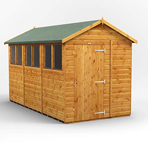 POWER | 12x6 Apex Wooden Garden Shed | Size 12 x 6 sheds | Super fast delivery or choose your own delivery date on 6x12 sheds