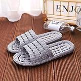 WENHUA Hombre Zapatillas de Estar por Casa de Mujer Verano Baño, Zapatos de Playa y Piscina Hombre, 2021 Pantuflas Antideslizantes de Fondo Suave para el hogar Nuevo, Gray_44-45