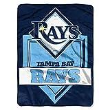 Northwest MLB Tampa Bay Rays Royal Plush Raschel Throw, One Size, Multicolor