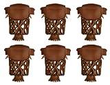 Iszy Billiards Pool Table Billiard Pockets-Set of 6 (Caramel)