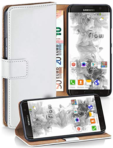 Preisvergleich Produktbild MoEx® Booklet mit Flip Funktion [360 Grad Voll-Schutz] für Samsung Galaxy S7 Edge / Geldfach und Kartenfach + Stand-Funktion und Magnet-Verschluss,  Weiß