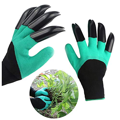 Garden Gloves with Claws, Green Waterproof Garden Gloves For...