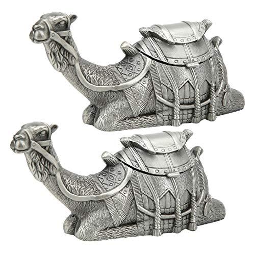 Ong Caja de joyería de Metal con Organizador de Pendientes, Caja de joyería de 2 Piezas con patrón Animal Lindo, para Guardar Joyas para Escritorio