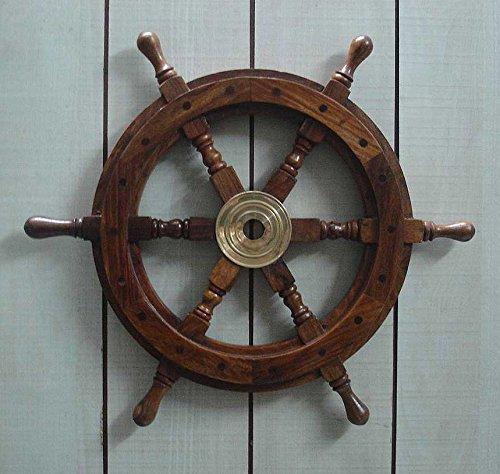 Graf von Gerlitzen Schiff Steuer Rad Steuerrad Maritim Nautik Holz 40 cm. 450B-T