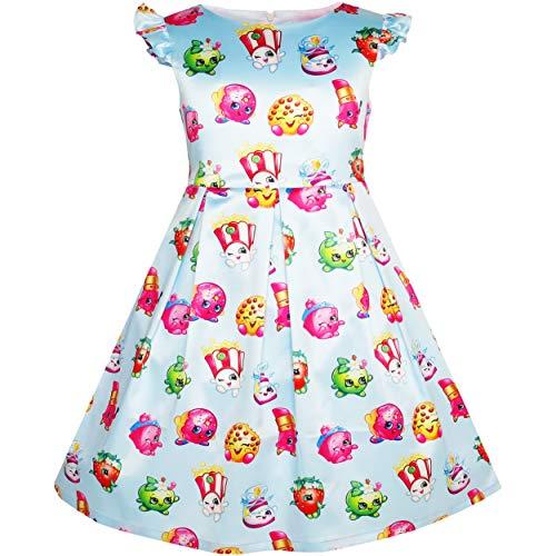 Vestido para niña Manzana Flor Fresa Beso Amapola maiz 4 años