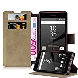 Cadorabo Coque pour Sony Xperia Z5 Compact, Orange Mat Design Retro Housse de Protection...