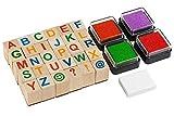Moore Art- Conjunto de Sellos de Alfabeto de Madera Premium (Playmags 2424.0)