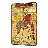 La Mejor Layadel Sur Cadiz 1948 Vintage Estilo Shabby Chic Cartel de Metal decoración de Pared 8 x 12 Pulgadas