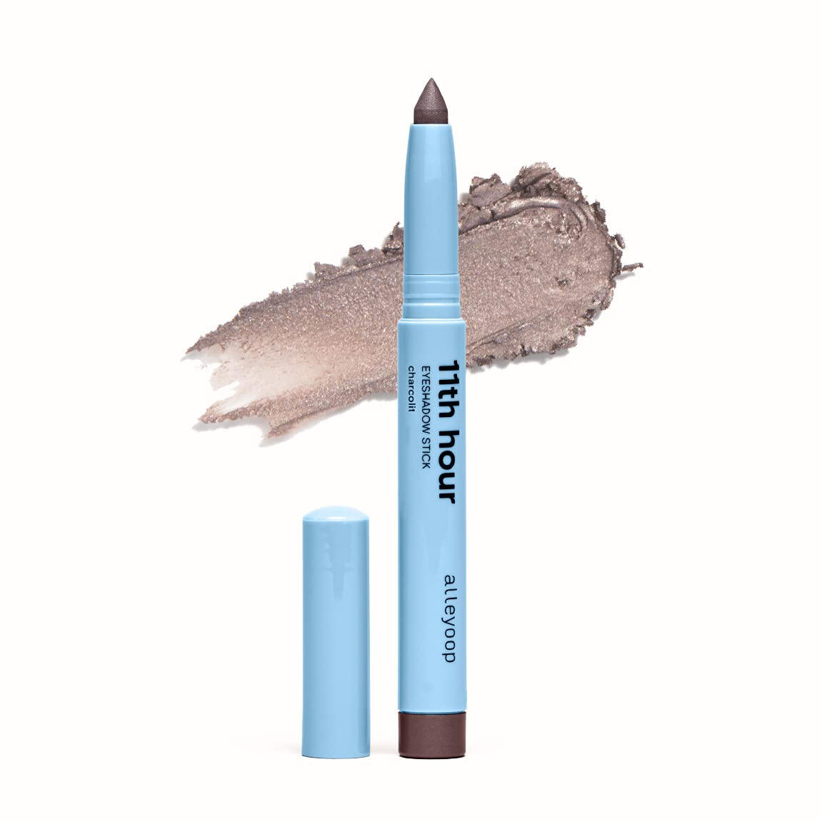 Alleyoop 11th Hour Cream Eyeshadow Sticks - Charcolit (Shimmer) - Award-winning - Smudge-proof and Crease-proof for Over 11 Hours - Easy-To-Apply and Compact for Travel - Cruelty-Free and Vegan : Beauty & Personal Care