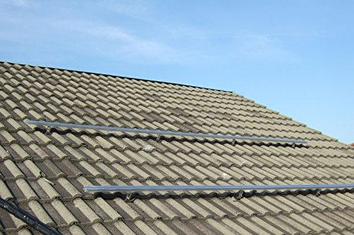 Estructura completa de montaje sobre la rejilla de aluminio para paneles solares térmicos planos (1, estructura superior de 5 paneles solares térmicos).