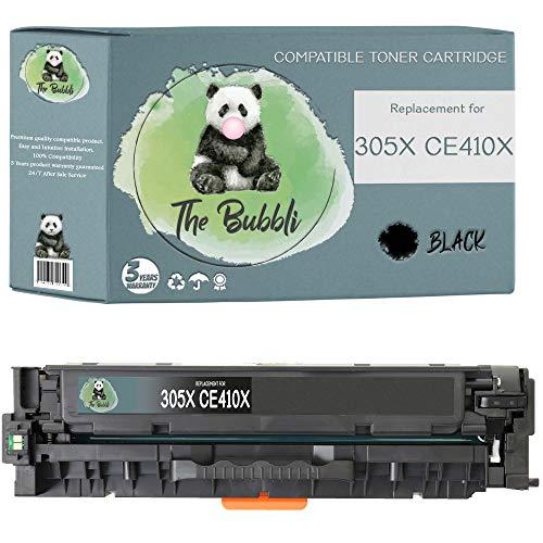 The Bubbli Original | 305X CE410X Tóner Compatible para HP Laserjet Pro 300 M351 M351a MFP M375 M375nw Pro 400 M451 M451dn M451dw M451nw MFP M475 M475dn M475dw (Negro)