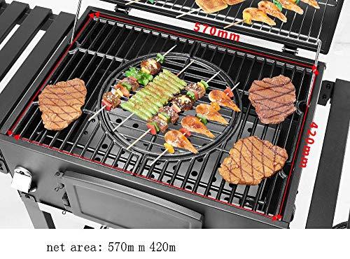 51k9K8YSazL - BYBYC Korean Grelha para Churasqueira Tragbare Barbacoa Griglia Carbon-Charcoal Parrilla Barbecue Grill Für Outdoor Churrasco Grill,Schwarz