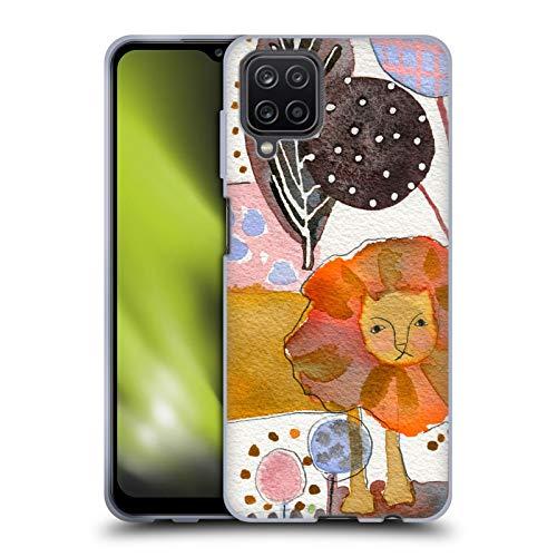 Head Case Designs Offiziell lizenzierte Wyanne Aquarell-Löwen-Tiere aus weichem Gel, kompatibel mit Samsung Galaxy A12 (2020)