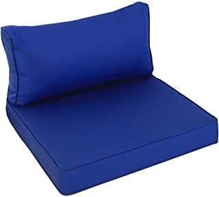 Outime Indoor/Outdoor 2pcs Royal Blue Cushions Set,Rplacement Cushions for Patio Furniture