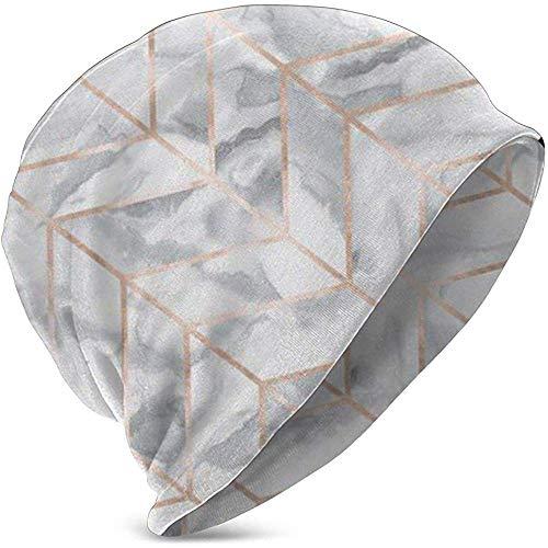 Marmer Herringbone Rose Gold Gilt Design Baby Hoed Kinderen Cool Knit Beanie Hoed voor 3-15 Jaar