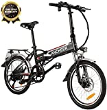 ANCHEER Folding Electric Bike for Adults, 20' Electric Bicycle/Commute Ebike with 250W Motor, 36V 8Ah Battery, Professional 7 Speed Transmission Gears (Black)