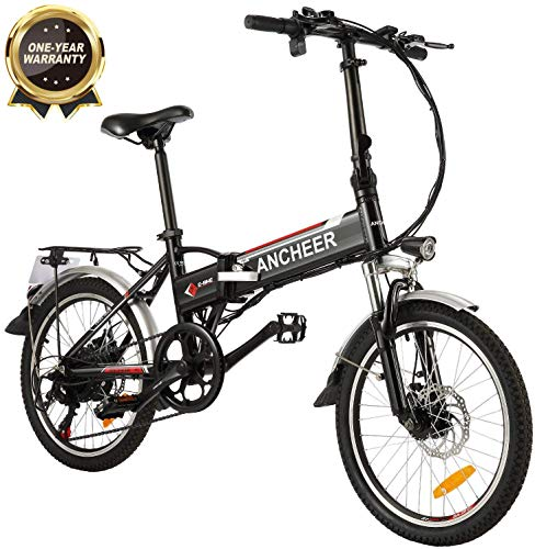 ANCHEER Folding Electric Bike Ebike, 20 Inch Electric Bicycle with 36V 8Ah Removable Lithium-Ion...