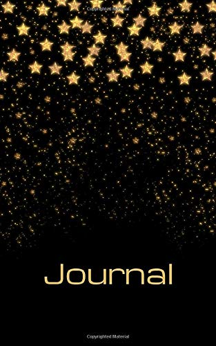 Journal: Gold stars; 100 sheets/200 pages; 5