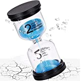 SuLiao Sand Timer 2 Minute Hourglass,Unbreakable & Waterproof Colorful Sand Clock 2 Min,Small Blue Sand Watch,Reloj De Arena,Plastic Hour Glass Sandglass for Kids,Games,Decorative,Kitchen,Toothbrush