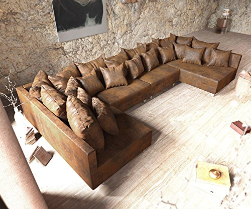 DELIFE Couch Clovis modular - Ecksofa, Sofa, Wohnlandschaft & Modulsofa (Braun, Sofa XL)