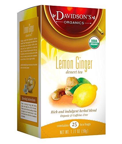 Davidsons Tea Dessert Tea/Lemon Ginger, 1.77 Oz, 25 Count Tea Bag