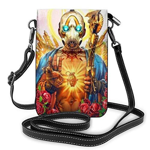 NoMan 'sLand Golden Lightweight Small Crossbody Bags - Bolso de mano de piel para teléfono móvil, bolso de viaje, cartera con ranuras para tarjetas de crédito para mujer