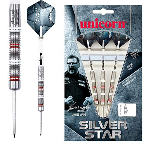Unicorn Silver Star James Wade Steel Dart, 80% Tungsten, 24g