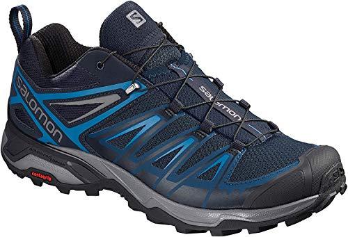 Salomon Men's X Ultra 3 Hiking Shoes, Poseidon/Indigo Bunting/Quiet Shade, 12