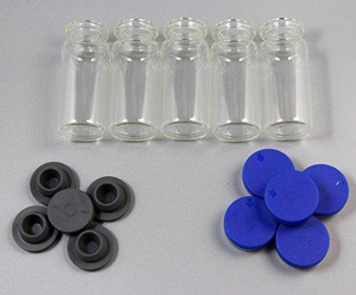 CHENGYIDA Lot de 10 flacons vides en verre de 10 ml.