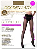 golden lady my secret silhouette 30 3p collant, 30 den, trasparente (melon 001a), x-large (taglia produttore:5 – xl) (pacco da 3) donna