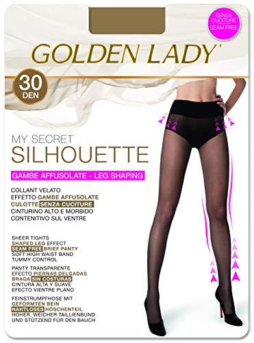 GOLDEN LADY My Secret Silhouette 30 3P Collant, 30 DEN, Trasparente (Melon 001A), Medium (Taglia produttore:3 – M) (Pacco da 3) Donna