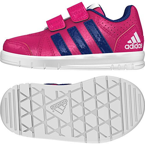 adidas Unisex-Baby LK Trainer 7 CF I Sneaker, Rosa Rosfue Tinuni Ftwbla, 23 EU