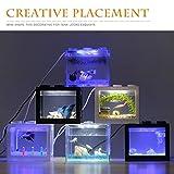 ZANGAO Acuario Transparente Mini Tanque de Pescados con el Cable Hermosa luz LED de la lámpara Fish Tank Caja Grande for la Oficina y el hogar (Color : Clear, Size : XXL)