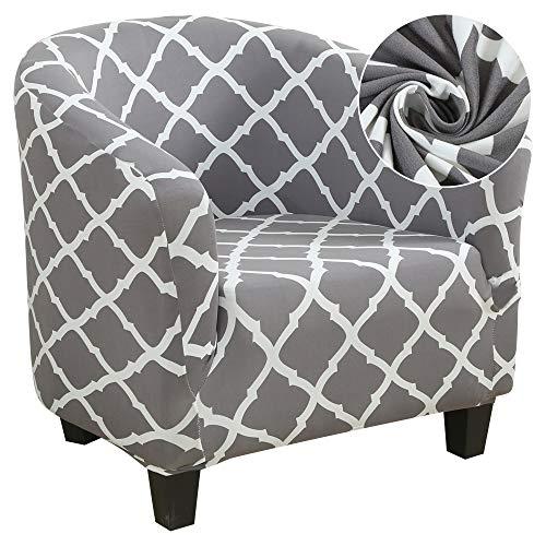 laamei Funda de Sillón Chesterfield Poliéster Impresión y Moderna Cubre Sofa para Salon Oficina Extraíbles y Lavables Funda Protector para Sillón Universal