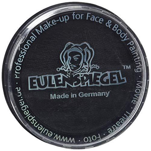 Eulenspiegel 181119 - Profi-Aqua Schminke in der Farbe schwarz, 20 ml