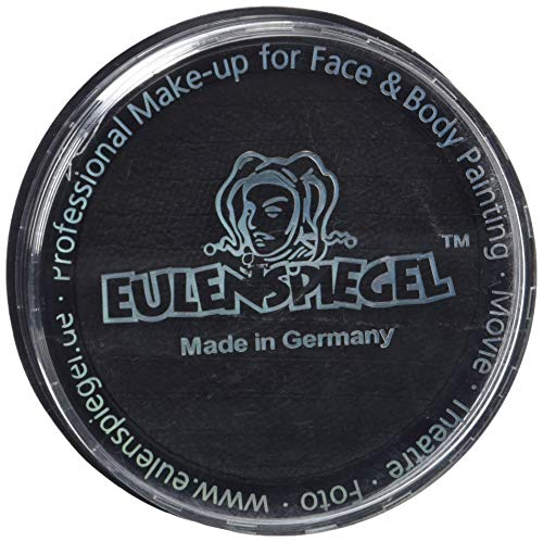 Eulenspiegel 181119 - Profi-Aqua Make-up Schminke - Schwarz - 30g
