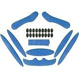 Almohadillas de espuma para casco Magic Stick 1 juego Forro anticolisión Protección de esponja con viscosa Cascos universales Almohadillas de repuesto para bicicleta Motocicleta eléctrica Azul