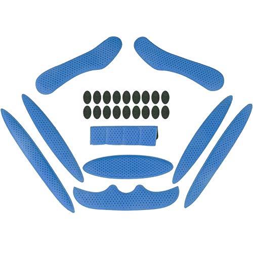 Himetsuya Helmpolster-Set für Fahrrad 1Satz, Universal-Schaumstoff-Pads für Airsoft Helm, Eva-Polster für Fahrrad, Motorrad und Radhelm Blau