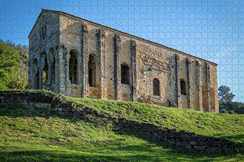 1000 piezas-España Santa María del Naranco Oviedo Rompecabezas para adultos Regalo de viaje de madera Recuerdo