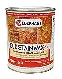 750 ml | Impregnante CERATO WAX per legno all'acqua - ELE STAINWAX PRO (Noce scuro)