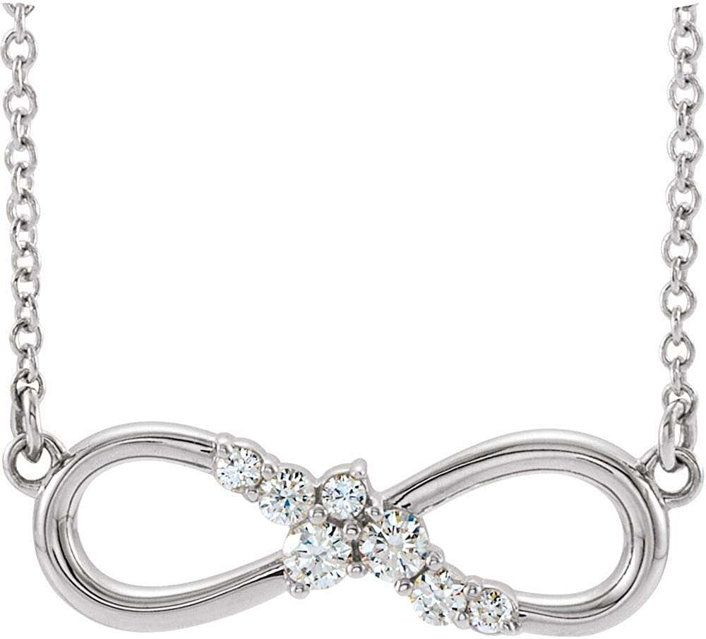 Solid Austin Mall Platinum 1 8 Cttw Charm Bar Diamond Pend Infinity-Inspired Al sold out.